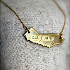 Vintage-look CA necklace.