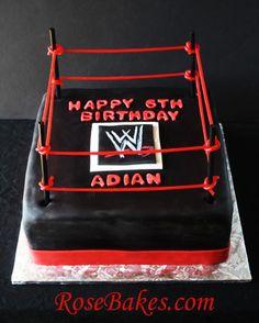 WWE Wrestling Ring Birthday Cake TUTORIAL