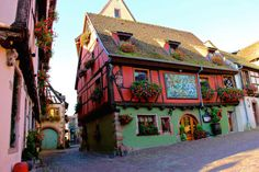 "Riquewihr is one of the crown jewels of the Alsace Region in France. One of the few towns not be greatly damaged in World War II, it still retains its original medieval charm and was the inspiration for the ""village"" in Beauty and the Beast."