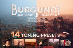 Burgundy Lightroom Preset Pack by Presetrain Co. on @creativework247