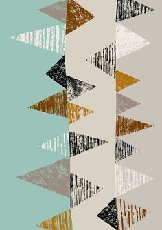 Geometry No3, limited edition giclee print. $25.00, via Etsy--Eloise Renouf.
