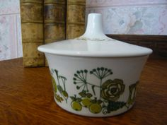 Figgjo Flint Market Design circular  Covered Sugar by TeacupsNMore, $18.00