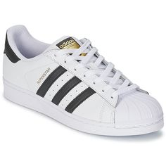 Baskets basses Adidas Originals SUPERSTAR Blanc / Noir prix promo Baskets Femme Spartoo 99.00 €