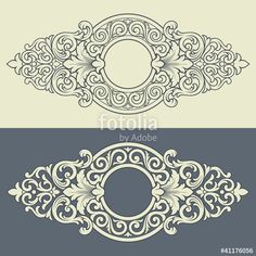 Вектор: Vector vintage decorative frame pattern design
