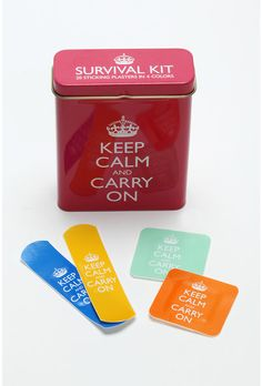Good advice in trying times. Bandages for retrieving one's dignity - veddy British.