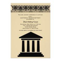 "Hall of Justice Graduation Party Invitation 5"" X 7"" Invitation Card"