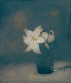 """Carrie Garrott: Jan Mankes """"Glass with Lillies"""" 1910 Painting Still Life, Still Life Art, Art Floral, Art Through The Ages, Still Life Flowers, Dutch Painters, Dutch Artists, Art Graphique, Museum Of Modern Art"""