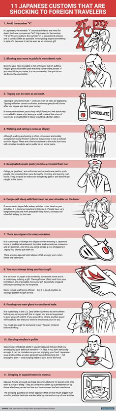 Infographic: 11 Japanese Customs That Are Shocking To Foreign Travelers - DesignTAXI.com