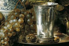 detail from Jan Davidsz. de Heem, Fruit Still Life with a Silver Beaker, 1648, Liechtenstein Museum, Wien.