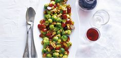Brussels sprouts with grapes. The combination of sweet grapes, crunchy walnuts and sauteed Brussels sprouts is absolutely delicious.