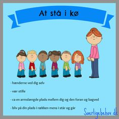 at-stå-i-kø-plakat. Cooperative Learning, Kids Learning, Kids Education, Special Education, Classroom Organization, Classroom Management, Danish Language, Visible Learning, Teachers Toolbox