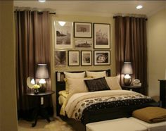curtain headboard. Different colors of course but I like this.