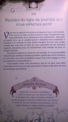 decidez-du-type-de-journee-que-vous-aimeriez-avoir :-) Doreen Virtue, L'oracle des anges Doreen Virtue, Positive Attitude, Positive Vibes, Witchcraft Books, Spiritus, Numerology, Positive Affirmations, Wicca, Law Of Attraction