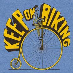 Vintage Keep On Biking Shirt