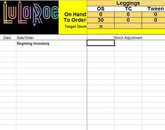 lularoe inventory plus sales tracking by lulatools on etsy track runway truck track