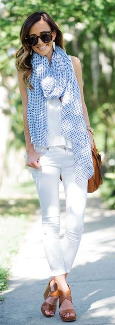 White On White + Blue Styling by Sequins & Things
