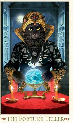 Tarot deck Baroque Bohemian Cats' Tarot MINI by BohemianCats, $39.00
