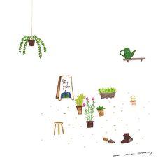 Welcome to Kimnavy garden - #illustration #instaart #illust #kimnavy #awesomestrawberry #김네이비 #어썸스트로베리 #식물 #가든 #손그림 #드로잉 #draw #색연필 #정원 #그림 #일러스트
