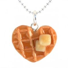 Scented Heart Waffle Necklace.  I love the smell of maple!!!  This would be so good!!