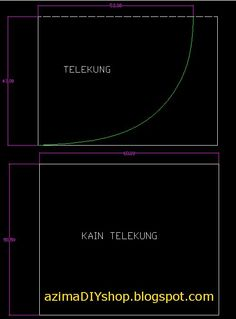 DIY? segalanya bermula disini!: Cara jahit telekung ~ teori sahaja, so try with your own risk! :P