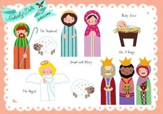 Free nativity paper doll printables