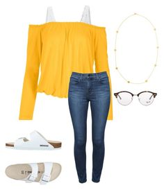 """""""Untitled #60"""" by faithjones1223 on Polyvore featuring LE3NO, Venus, Theory, Birkenstock, Julie Vos, Ray-Ban and plus size clothing"""