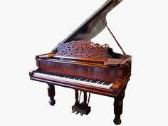 ANTIQUE STEINWAY & SONS MAHOGANY GRAND PIANO:  Circa 1894-1895