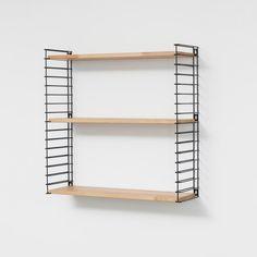 Tomado boekenrek - zwart frame en houten planken