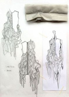 Fashion Sketchbook - fashion design drawings with fabric manipulation ideas fabric samples for development; Mode Portfolio Layout, Mise En Page Portfolio Mode, Fashion Portfolio Layout, Fashion Design Sketchbook, Fashion Design Drawings, Fashion Sketches, Portfolio Design, Portfolio Book, Fashion Design Portfolios