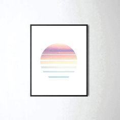 minimalist, abstract design that'll make a great addition to your home as wall decor or a desk accessory. This contemporary creation that is sure to add to any space. Sunset Print, Sunrise Print, Circle Print, Abstract Art, Abstract Print, Modern Print, Sunset Art, Color Print, Modern Decor, Contemporary, Home Decor, Home DIY, Wall Art, Wall Decor