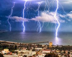 A Dramatic Lightning Storm, California.