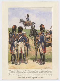 SOLDIERS- Rousselot: NAP- France: Garde Impériale - Grenadiers à cheval 1806-1814: Tenues de campagne