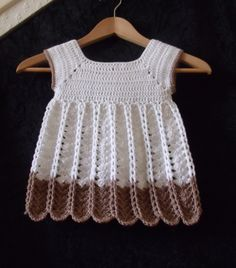 Crochet Pinafore Dress PDF Pattern (Chains and Shells) by UniqueEarthling (Thomasina Cummings Designs)