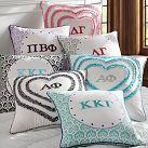 Greek Monogram Pillow Cover | PBteen