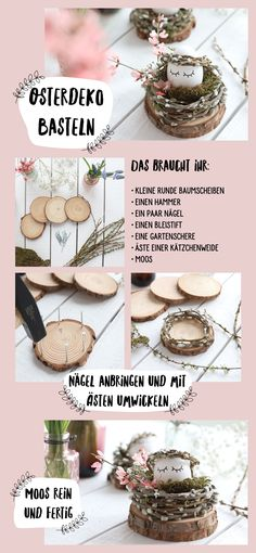 DIY für kleine Oster Nester . 💕 Ostergeschenk Diy, Diy And Crafts, Crafts For Kids, Organic Snacks, Home Grown Vegetables, Diy Desk, Diy Wreath, Happy Easter, Diy Gifts