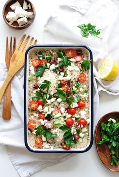 Greek Chicken and Rice Casserole / Bev Cooks