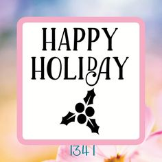 Happy Holiday- Christmas Reusable Craft Stencil, Decal or Board Design by… Happy Holidays, Christmas Holidays, Christmas Stencils, Stencil Diy, Holiday Gifts, Decal, Shapes, Board, Projects