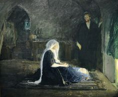 Holy Family  Henry Ossawa Tanner  American, 1859-1937  Oil on canvas, not dated  Muskegon Museum of Art