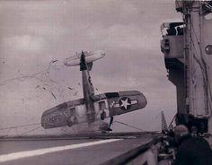 Landing on an aircraft carrier WWII