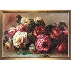 Discarded Roses by Renoir Framed Painting Print on Canvas