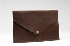 """KUNGSSTEN Laptop Cover 15"""" Leather Brown - P.A.P Sweden"""