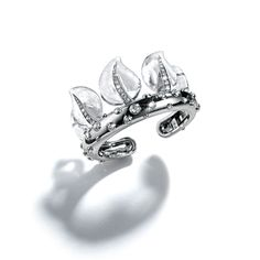 Belperron Leaf Coronet cuff with rock crystal, diamonds and platinum