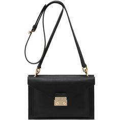 2f25e573df4 Kensal Small Shoulder Bag Black Velvet Calf found on Polyvore Black  Shoulder Bag, Shoulder Strap