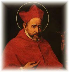 17 de septimebre: St.-Robert-Bellarmine Fue un cardenal de la Iglesia Catoica, jesuita e inquisidor en tiempos de la Reforma Protestante. Por su fervor en perseguir herejes fue llamado 'martillo de herejes', por lo que su vida y santidad han sido motivo de controversia.