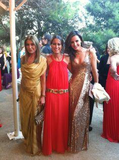 Purificación Garcia, María Álvarez y Mónica de Tomás dressed in SAYAN at YO dona International Awards