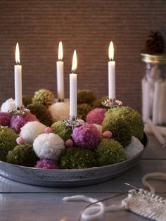 advent wreath,... all fire hazards, handle with care!