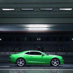 Chevrolet camaro green?  Beautiful!