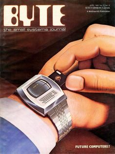 """via Eric Topol and Daniel MacArthur on Twitter: """"The iWatch concept in 1981 ... you thought typing was hard on a smartphone?"""" Visionaries; imagine what people will be doing with technology 10, 20, 50 and 100 years from now!"""