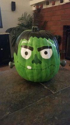 1000 Ideas About Frankenstein Pumpkin On Pinterest