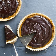 Chocolate-Covered February: Salted Dulce de Leche Chocolate Tart